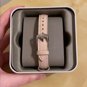 Pink fossil watch band